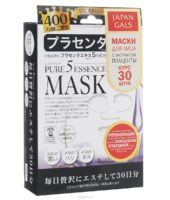 Japan Gals Маска для лица «Pure5 Essential Placenta», с экстрактом плаценты, 30 шт
