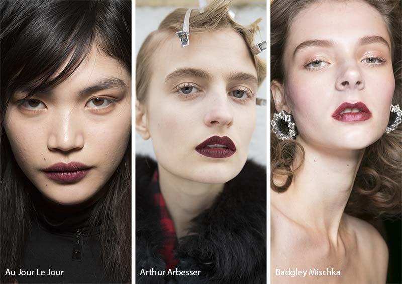 тенденции макияжа губ 2018