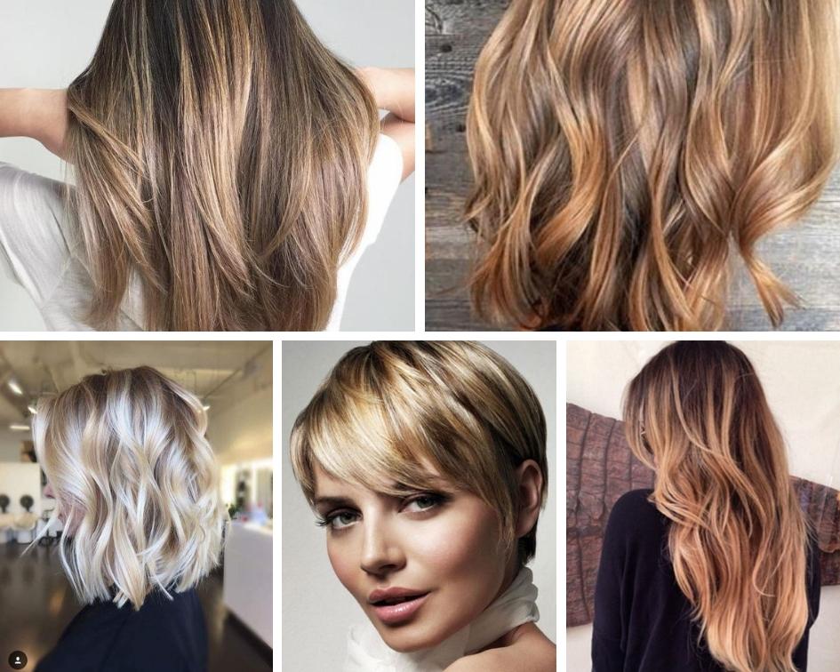мелирование + колорирование на русые волосы