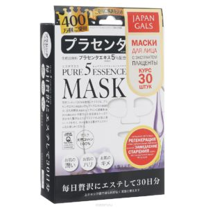 "Japan Gals Маска для лица ""Pure5 Essential Placenta"", с экстрактом плаценты, 30 шт"